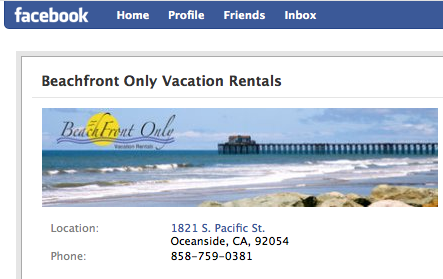 Beachfront Only Vacation Rentals on Facebook